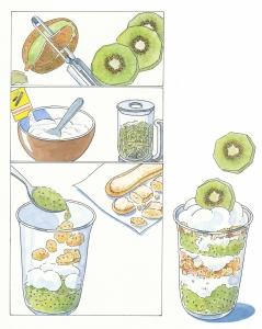 Kiwi Schichtcreme